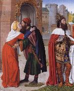 Master of Moulins The Meeting of Saints Joachim and Anne at the Golden Gate oil painting reproduction