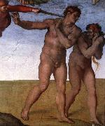 Michelangelo Buonarroti Expulsion from Garden of Eden oil painting reproduction