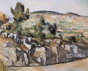 Paul Cezanne Hillside in Provence painting