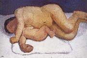 Paula Modersohn-Becker Mother and son leaned oil painting reproduction