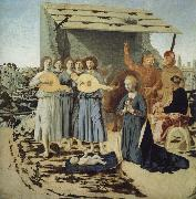 Piero della Francesca The Nativity oil painting reproduction