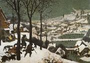 Pieter Bruegel Hunters in the snow painting