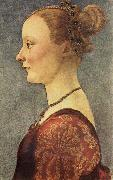 Pollaiuolo, Piero Portrait of a Young Lady oil painting