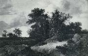 RUISDAEL, Jacob Isaackszon van House in a Grove painting