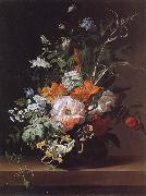Rachel Ruysch Flowers in a Vase oil