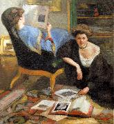 Robert Breyer Women Reading oil