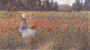 Robert William Vonnoh In Flanders Field Where Soldiers Sleep and Poppies Grow oil