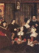 Rowland Lockey Sir Thomas More and his family oil