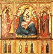 Taddeo di Bartolo Virgin and Child with St John the Baptist and St Andrew china oil painting artist