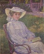 Theo Van Rysselberghe The Woman in White oil