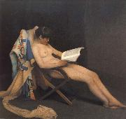 Theodore Roussel The Reading Girl oil