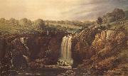 Thomas Clark The Wannon Falls oil on canvas