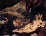 Titian Venus and the Lute Player oil painting reproduction