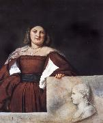 Titian Portrait of a lady oil painting reproduction