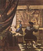 VERMEER VAN DELFT, Jan The Artist-s Studio china oil painting artist
