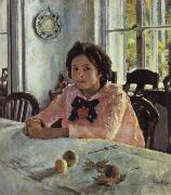 Valentin Serov Girl awith Peaches oil painting reproduction