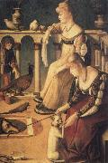 Vittore Carpaccio Venetian Ladies,known as the courtesans oil painting