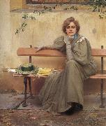 Vittorio Matteo Corcos Dreams oil painting reproduction