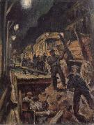 Waldemar Rosler U-train-building in night oil