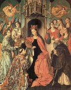 unknow artist San Ildefonso receiving the chasuble oil painting reproduction