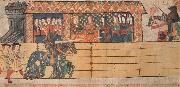 unknow artist Henry VIII jousting before Catherine of Aragon and her ladies at the tournament on 12 February painting