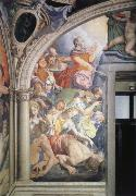 Agnolo Bronzino Mose strikes water out of the rock fresco in the chapel of the Eleonora of Toledo oil painting
