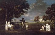 Alexander Nasmyth The Family of Neil 3rd Earl of Rosebery in the grounds of Dalmeny House painting