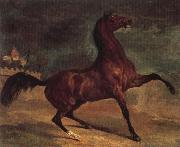 Alfred Dehodencq Horse in a landscape painting