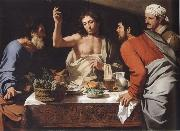 CAVAROZZI, Bartolomeo The meal in Emmaus oil on canvas