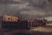Cornelis Bol View of Arundel House and the West Garden oil on canvas