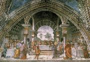 Domenico Ghirlandaio The guest meal of the here ode oil painting reproduction