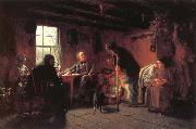 Eastman Johnson The Pension Agent oil painting reproduction