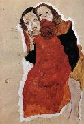 Egon Schiele Two Girls oil painting reproduction