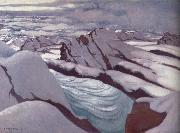 Felix Vallotton High Alps,Glacier and Snowy Peaks painting