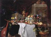 Jan Davidz de Heem Table with desserts china oil painting artist