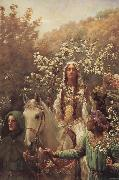 John Collier Queen Guinever-s Maying oil on canvas