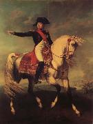 Natoire, Charles Joseph Horseman likeness of Napoleon I oil on canvas