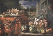 Pier Francesco Cittadini Style life with fruits and sugar work oil on canvas
