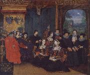 Rowland Lockey Thomas More and Family oil