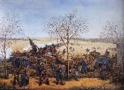 Samuel J.Reader The Battle of the Blue October 22.1864 oil