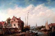 unknow artist European city landscape, street landsacpe, construction, frontstore, building and architecture. 173 painting
