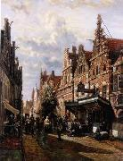 unknow artist European city landscape, street landsacpe, construction, frontstore, building and architecture. 165 painting