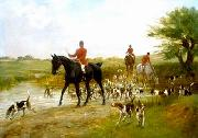 unknow artist Classical hunting fox, Equestrian and Beautiful Horses, 099. china oil painting reproduction