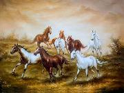 unknow artist Horses 011 painting