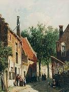 unknow artist European city landscape, street landsacpe, construction, frontstore, building and architecture. 244 painting