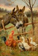 unknow artist Cocks and horses109 china oil painting reproduction
