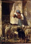 unknow artist Sheep 175 china oil painting reproduction