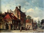 unknow artist European city landscape, street landsacpe, construction, frontstore, building and architecture.082 oil painting reproduction
