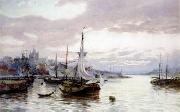 unknow artist Seascape, boats, ships and warships. 17 oil painting reproduction