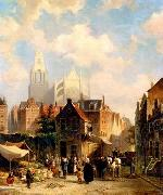 unknow artist European city landscape, street landsacpe, construction, frontstore, building and architecture.067 oil painting reproduction
